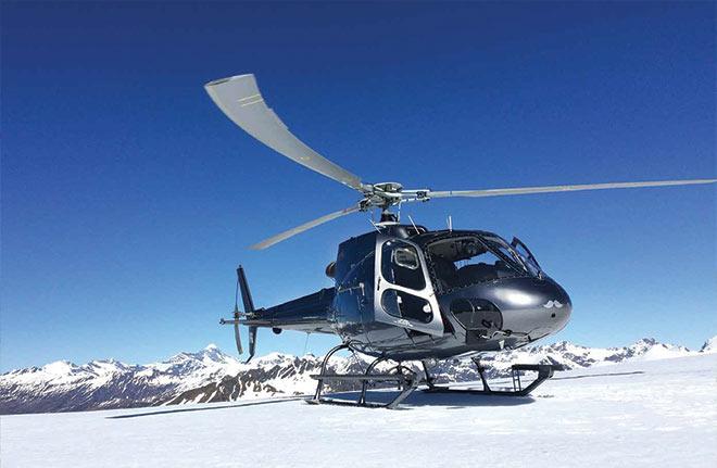 Glacier landing Scenic flights