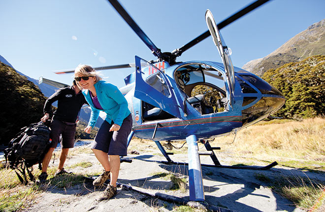 Scenic flights New Zealand
